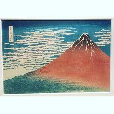 Red Mt. Fuji. #hokusai #katsushikahokusai #japantravel #tokyo #museum