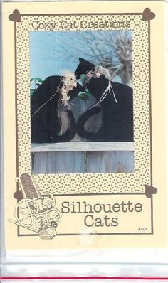 Cozy CAT Creations Silhouette CATS Stuffed Sachet by patternpatch