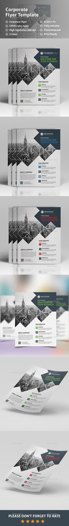 Corporate Flyer Template PSD. Download here: http://graphicriver.net/item/flyer-/15625950?ref=ksioks
