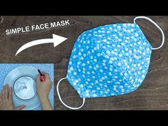 Make fabric face mask at home DIY face mask No sewing machine Simple face mask pattern, Perhaps you are a beginner sewist looking for some simple sewing projects, or even you are just buy, Sewing Hacks, Sewing Tutorials, Sewing Crafts, Sewing Projects, Beginners Sewing, Diy Crafts, Easy Face Masks, Diy Face Mask, Homemade Face Masks