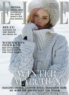 Cover of Elle Germany with Ann Koster, December 2015 (ID:36214)| Magazines | The FMD #lovefmd