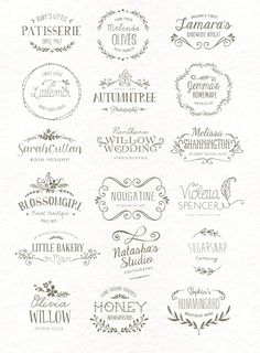 I love the font and style of the Autumntree Wedding Willow and the font for Sha - Fonts - Ideas of Fonts - I love the font and style of the Autumntree Wedding Willow and the font for Shannington. Buy them at Creative Market Part of a designers Kit Web Design, Logo Design, Graphic Design, Branding Design, Hand Lettering Anleitung, Logo Inspiration, Impression Etiquette, Etiquette Vintage, Wedding Logos