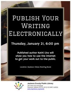 THIS PROGRAM HAS EXPIRED -- Learn how to get your work out to the public on the internet!