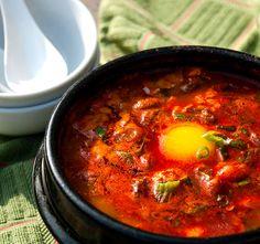 Korean Tofu Stew  (Sun-Du-Bu-Jji-Gae, 순두부찌개)