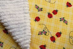 baby blanket flannel backed with chenille