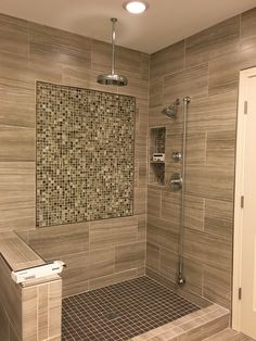 35 Stylish Bathroom Design And Decor Ideas Look Elegant - An ordinary bathroom with plain walls, out-dated designs is boring and unimpressive, but a little effort can make it interesting. Rustic Bathrooms, Small Bathroom, Bathroom Wall, Bathroom Design Luxury, Shower Remodel, Bathroom Remodeling, Remodeling Ideas, Decor Ideas, Wall Design