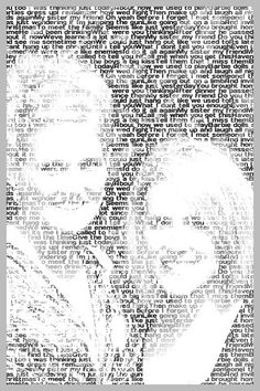 Make photo out of words