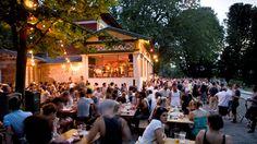 Rosa Bonheur : Parc des Buttes-Chaumont, avenue de la Cascade, métro Botzaris (ligne 7bis).   Mercredi-dimanche : midi-minuit.  Tapas de 2,50€ à 8€.  Demi 3€.