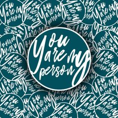 Greys Anatomy, Seattle, You Are My Person, Stickers, Etsy, My Love, Inspiration, Products, 20 Years Old