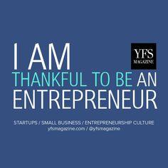 I am thankful to be an entrepreneur. #smallbiz #startups #gratitude www.fb.me/1MFZWtcDR