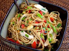 Asian Noodle Salad with ginger-peanut dressing.