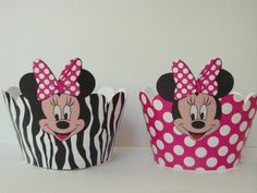 Minnie Mouse cupcake wrappers party supplies by BellasnFellas, $7.50