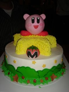 Kirby Birthday Cake photo by lucinascakes from Flickr at Lurvely