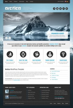 Arctica is a fully featured responsive WordPress website.