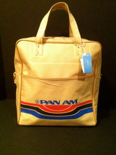 1970s Pan AM Canvas Tote Bag with Original Tags by JaybirdFinds -- SOLD