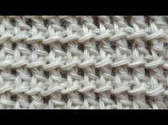 Tunisian Crochet - Fishnet - Pattern 13 (Russian with English subtitles... Deb)