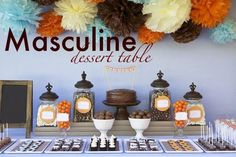 Masculine dessert table