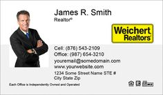 Small Size Photo Weichert Business Cards