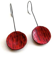 Liisa Hashimoto,  [ Red Circle Earring ]