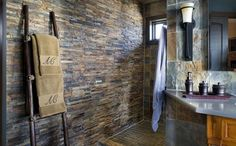 Rustic - Mediterranean Style Home by Vanessa Deleon: Mediterranian House By Vanessa Deleon With Bathroom Day Lighting View ~ PaseO. Rustic Master Bathroom, Bathroom Spa, Bathroom Ideas, Master Bathrooms, Bathroom Designs, Shower Ideas, Cheap Shower Doors, Interior Decorating, Interior Design