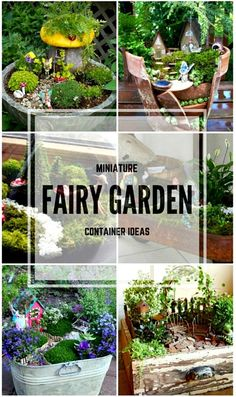 You can create your own little world with these miniature fairy garden ideas. Great spring or summer outdoor crafting with the kids (or just for yourself).