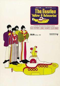 The Beatles - Yellow Submarine - Mini Print A