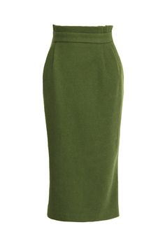 High Waist Split Green Skirt $54.99