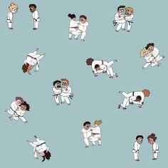 Judo combat martial arts karate jujitsu Judo, Karate, Martial Arts, Illustration, Prints, Etsy, Fictional Characters, Image, Marshal Arts