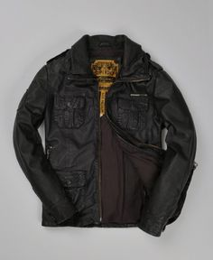 Superdry leather jacket.