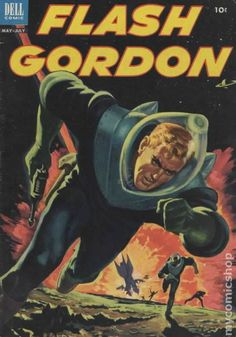 Flash Gordon - Dell Comics compilation / anthology from Dark Horse Comics Science Fiction Magazines, Science Fiction Art, Pulp Fiction, Comic Book Characters, Comic Books Art, Comic Art, Dark Horse Comics, Flash Gordon Comic, Comics Vintage