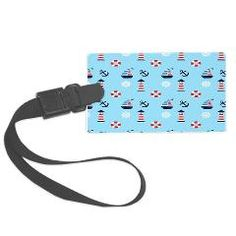 Of Lighthouses & Sailing Large Luggage Tag