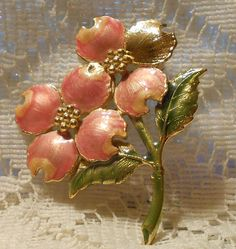 Vintage Flower Spray Brooch by KC by ViksVintageJewelry on Etsy, $13.99