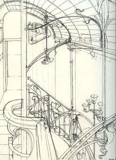 horta museum details sketch - Google Search
