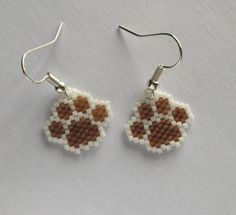 Hey, I found this really awesome Etsy listing at https://www.etsy.com/listing/233738042/beaded-pawprint-earrings-paw-print