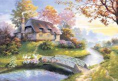 Jigsaw Puzzles - Cottage (Castorland 1500)