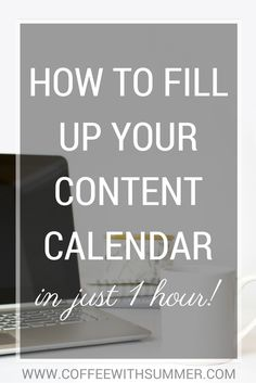 How To Fill Up Your Content Calendar (In Just ONE Hour!) | Coffee With Summer