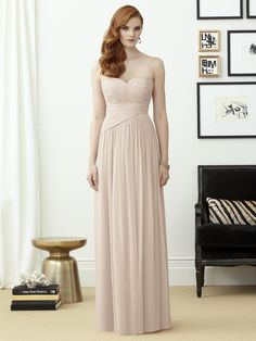 Wishesbridal Blush Pink Sweetheart Floor Length #Chiffon A Line #BridesmaidDress B1de0041