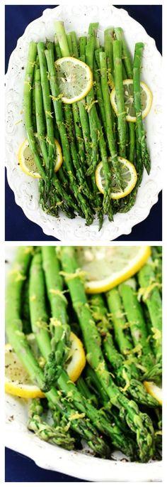 Lemon Pepper Asparagus -- super easy to make, and full of fresh lemon pepper flavor! | gimmesomeoven.com