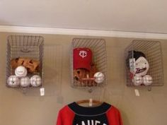 Baseball Wall Storage Shelf Cages