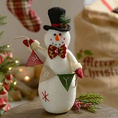 Joy Plush Tabletop Snowman-adorable