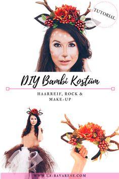 DIY Bambi Kostüm - Haarschmuck, Make-Up und Tüllrock