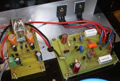 Jean Hiraga's Super Class-A Amplifier Diy Electronics, Electronics Projects, Electronic Schematics, Stereo Amplifier, Circuit Diagram, Vacuum Tube, Audiophile, Nom Nom, Speakers