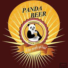 """""""Panda Beer"""" - Personal work - Aug 2015 - T-shirt or post card purpose"""