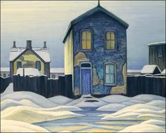 Lawren Harris - Grey Day in Town, Group of Seven Painter Group Of Seven Artists, Group Of Seven Paintings, Paintings I Love, Small Paintings, Beautiful Paintings, Tom Thomson, Emily Carr, Canadian Painters, Canadian Artists