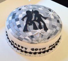 Disco Cake- a lot easier than doing a round disco ball!