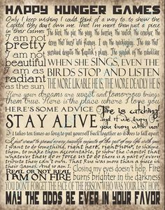 Hunger Games - Memorable Quotes