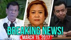 BREAKING NEWS TODAY! MARCH 15, 2017 DE LIMA CASES   TRILLANES DESTABILISASYON   DUTERTE WAR ON DRUGS - YouTube