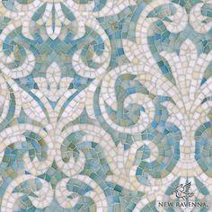 "Name: Serena<br /> Style: Classic<br /> Product Number: CB1222SERENA (19""x19"")<br /> Description: Serena jewel glass mosaic in Aquamarine and Quartz."