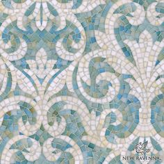 "Name: Serena<br /> Style: Classic<br /> Product Number: CB1222SERENA (19""x19"")<br /> Description: Serena jewel glass mosaic in Aquamarine and Quartz."