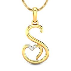 Here are the best Alphabet Pendant Designs In Gold. Get beautiful Gold Lockets With Letters to your dear one with the wide collection of pattern. Gold Jewelry Simple, Golden Jewelry, Simple Necklace, Unique Jewelry, Locket Design, Jewelry Design, Gold Locket, Pendant Design, Diamond Pendant